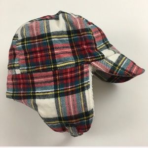 Gap baby toddler plaid trapper hat 0-6 & 12-18 mo
